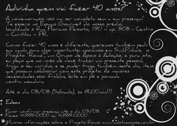 Convite de Aniversario 50 Anos Feminino Convite de Aniversario de 50