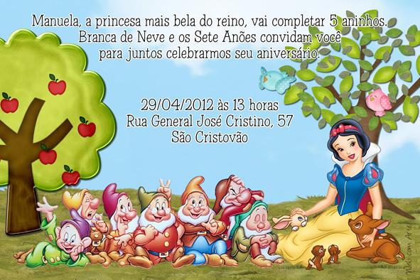 Web Com Arte Convites De Aniversário Infantil E De Adolescentes
