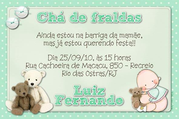 Tag Frases Para Convite De Cha De Bebe Masculino