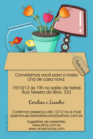 Web Com Arte Convites De Chá