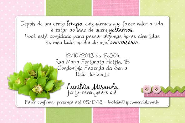Convite Aniversario 50 Anos Para Imprimir Convite De