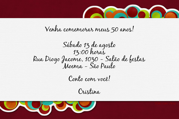 Web Com Arte Convites De Aniversario