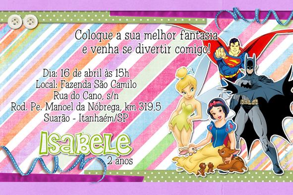 Web Com Arte Convites De Aniversario Infantil E De Adolescentes